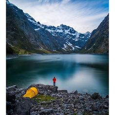 Lake Marian ..This little slice of New Zealand heaven can be found in the Darran Mountains of the Fiordlands National Park in New Zealand's south island.