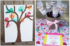 Love this - have each of the birthday friends put their handprint on the tree as one of the trees leaves.