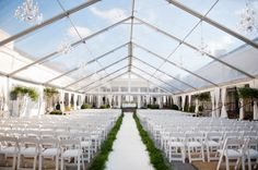 Clear top tent with chandliers!