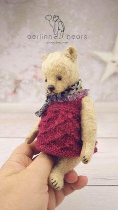 Indie Miniature Mohair Artist Teddy Bear from door aerlinnbears