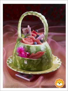 Cute fruit purse!! It's Written on the Wall: Cute Ideas for Your Baby Shower-Gotta See!