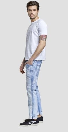 We are Replay Giusto low crotch slim jeans - We are Replay
