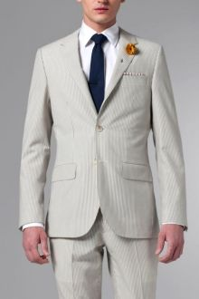 The Ultimate Gray Seersucker Suit Mens Attire, Mens Suits, Sharp Dressed Man, Well Dressed, Made To Measure Suits, Mens Clothing Styles, Clothing Ideas, Male Style, Men's Style