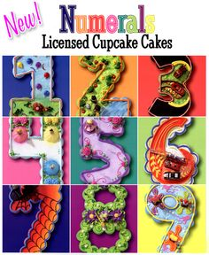 number cupcake cakes