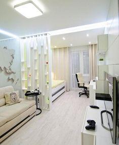 Apartment One Room Layout Condo Interior Design, Studio Apartment Design, Small Apartment Design, Condo Design, Studio Apartment Decorating, Apartment Layout, House Design, Small Condo Decorating, Apartment Ideas