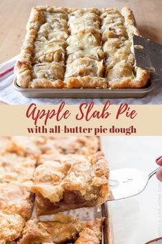 Pie recipes 128493395605299024 - Apple slab pie is party pie! It's an apple pie with an all-butter pie dough baked on a baking sheet and served in squares. What could possibly be better? Dessert Simple, Quick Dessert, Dessert Healthy, Quick Easy Desserts, Apple Pie Recipes, Sweet Recipes, Pumpkin Recipes, Baking Apple Pie, Baking Pies