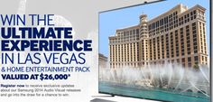 Win a Trip to Las Vegas for CES + Samsung Home Entertainment Pack