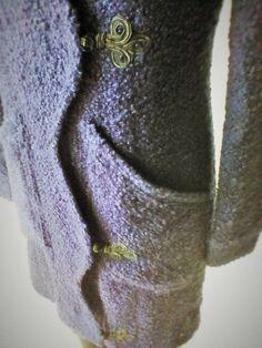 MONTGOMERY JACKET Bouclé Wool COLOR: VIOLET BLUE SIZES(EU): 38/40 (ONE PIECE)