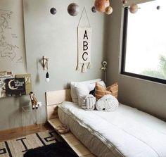 Neutral Bohemian Nursery - home interior - Kinderzimmer