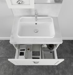 Onda Storage | London 750 Vanity | St Michel Bathroomware Designed & Made in New Zealand Bathroom Storage Solutions, Solid Surface, Basin, Small Spaces, New Homes, Vanity, London, Home Decor, Dressing Tables