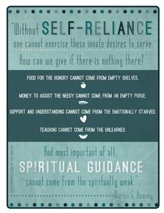 Holy Handouts: Young Women Lesson 11: Growing and Maturing in Self-reliance, Part 1