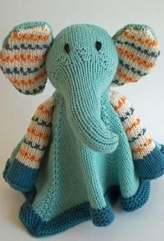 Baby Pears Blanket Buddy - Knitting Patterns by Julie L. Anderson available via Knit Picks