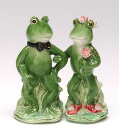 OMG! These were my wedding cake toppers! They are really salt & pepper shakers, but you can't tell.