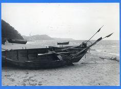 Groß Kuhren, Strand mit Boot mit Blick nach Westen