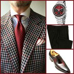BUSINESS STYLE: Sport Coat(Custom)-Omega(Watch)-Ralph Lauren(Pants)-Yasuhiro(Shoes)