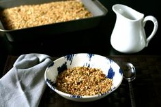 Easy Homemade Granola Recipe featuring Pumpkin Seeds. A fall favorite!  http://easyrecipesfromscratch.com/easy-homemade-granola-recipe-from-scratch/