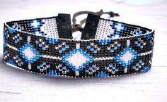 Stars Dancing Bead Loom Bracelet Bead by BeadWorkBySmileyKit, $18.00