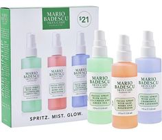 Mario Badescu Spritz Mist Glow Set Ulta Beauty is part of Facial spray - Mist like you mean it Spritz Mist Glow Set includes Mario Badescu's three facial sprays that can easily be incorporated into your daytonight regimen Beauty Hacks For Teens, Piel Natural, Cellulite Scrub, Skin Tag, Mouthwash, Beauty Routines, Skincare Routine, Health Routine, Skincare Dupes