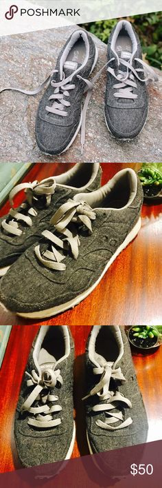 Madewell & Saucony Sneakers in Grey Flannel Good used condition. Madewell & Saucony DXN Trainer Sneakers in Grey Flannel size 8.5 and true to size Madewell Shoes Sneakers