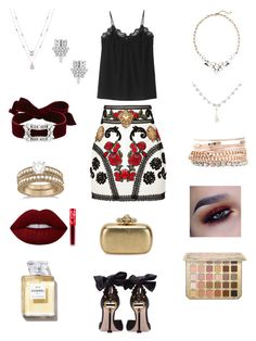 """Untitled #292"" by heather2003 on Polyvore featuring Dolce&Gabbana, Old Navy, Yves Saint Laurent, Fallon, Jessica Carlyle, Allurez, Miu Miu, Lime Crime and Alexander McQueen"