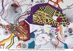 Kunstmuseum Bonn displays Franz Ackermann's Very Colorful Paintings Colorful Paintings, Contemporary Paintings, Drawing Sketches, Drawings, Neo Expressionism, Artistic Installation, Sense Of Place, 2d Art, Abstract