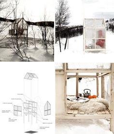 Modular ice-walled winter shack