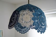 Doily lampshade. Different...and I love it!