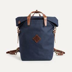 Canvas and Leather Backpack - Outdoor Inspiration   Bleu de chauffe