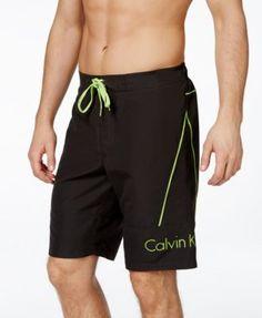 Calvin Klein Men's Contrast Trim Classic Swim Trunks