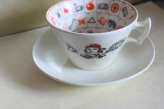 Romany Fortune Telling Cup and Saucer Antique Collectable. Fortune Telling, China Girl, New Career, Teacup, Cup And Saucer, Chips, Magic, Antiques, Lady