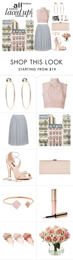 """""""Lace + Tulle = LOVE"""" by demy19-l ❤ liked on Polyvore featuring Bebe, Martha Medeiros, Needle & Thread, Phase Eight, Michael Kors, Chanel, By Terry, Too Faced Cosmetics and Nearly Natural"""