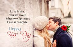 Happy Kiss Day Quotes and Shayari with Images