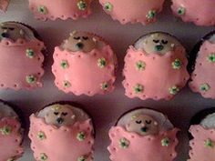 Baby girl shower cupcakes Cupcake Cookies, Cupcakes, Girl Shower, Baby Shower, Cotton Candy Cookies, Decorated Cakes, Shower Ideas, Cake Decorating, Party Ideas
