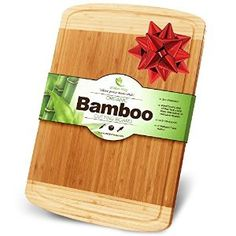 Amazon.com: Midori Way Thick Bamboo Cutting Board with Juice Grooves - Extra Large: Kitchen & Dining
