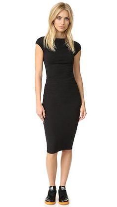 JAMES PERSE Sleeveless Tucked Dress. #jamesperse #cloth #dress #top #shirt #sweater #skirt #beachwear #activewear