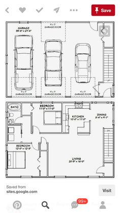 Amazing Shed Plans PDF house plans, garage plans, shed plans. Now You Can Build ANY Shed In A Weekend Even If You've Zero Woodworking Experience! Start building amazing sheds the easier way with a collection of shed plans! Plan Garage, Garage Floor Plans, Barndominium Floor Plans, House Floor Plans, Garage Ideas, Shed House Plans, Detached Garage Plans, The Plan, How To Plan