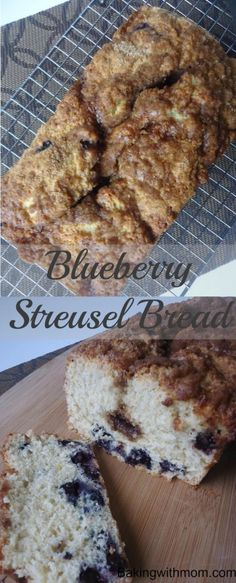 Blueberry Streusel Bread-sweet blueberries with a cinnamon crumb topping this bread is great for breakfasts or on the go snack.