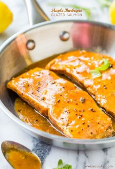 Maple Barbeque-Glazed Salmon - The glaze is smoky and sweet with a bit of heat