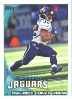 2010 Topps NFL Football Card # 70 Maurice Jones-Drew - Jacksonville Jaguars - NFL Trading Card in a Protective ScrewDown Case! by Topps. $0.95. Check out other listings for other stars from this popular set!. Card is shipped in a protective screwdown case to preserve its condition!. NOTE: Stock Photo Used. Contact Seller with any Questions. Great looking 2010 Topps NFL Football Card!!. This is just one of the 1000s of great sports cards offered. 2010 Topps NFL Football Card ...