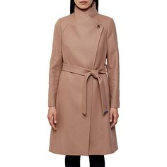 1ac7d535bf9 Buy Ted Baker Aurore Long Wrap Collar Coat Online at johnlewis.com Belted  Coat,