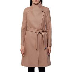 Buy Ted Baker Aurore Long Wrap Collar Coat Online at johnlewis.com