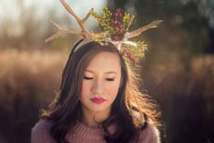 DIY antlers for concept shoot