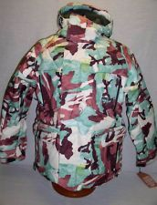 NEW MENS ANALOG ENDEAVOR CAMO 550-FILL DOWN INSULATED SNOWBOARD JACKET S UK 38