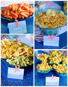 Under the Sea Party – Food Buffet Table, Ocean Food Theme, Liesl's Birth… Unter dem Meer Party – Food Buffet Tisch, Ocean Food Theme, Liesls Geburtstagsfeier Sea Party Food, Mermaid Party Food, Party Food Buffet, Mermaid Theme Birthday, Party Food Themes, Little Mermaid Birthday, Ariel Party Food, Party Desserts, Little Mermaid Food