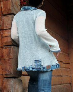 Summer sweater jeans recycled boho - jamfashion Etsy