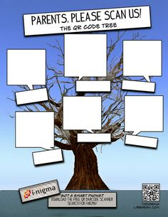 from the Daring Librarian:  Blank_QR_CODE_TREE, via Flickr. (to lead to library news, blog posts, literacy resources...!)