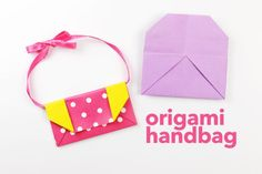 Learn how to make a simple origami handbag or clutch purse with these easy to follow step by step instructions. Makes great accessories for dolls!