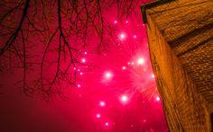 New Year's Eve fireworks display at City Hall Lahti- Uuden vuoden ilotulitus Lahden kaupungintalolla. | Kuvakuja.fi