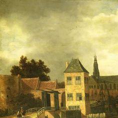 View of the Town of Haarlem, taken from the Spaarne River, showing the Eendjespoort, Balthasar van der Veen, , c. 1650 - c. 1659 - Rijksmuseum
