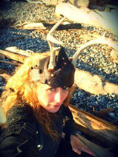 #ulantia #leather #magick #antlers #headdress